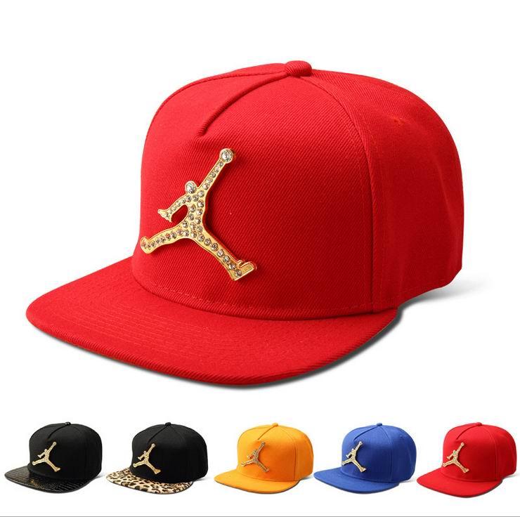 2016 18K Gold Plated Bling Bling Jordan Snapback Caps for Men Women High  Quality Boys Girls Cotton Hip Hop Hats HK 218-in Baseball Caps from Apparel  ... 4aecb411c31