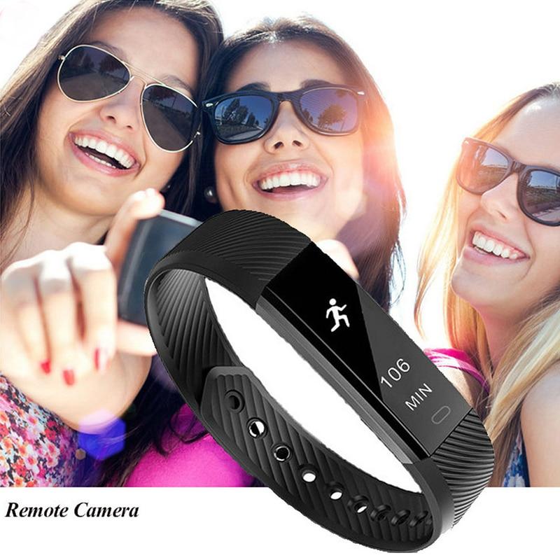 BUMVOR ID115 Waterproof Sleep Monitor Smart Bracelet Young Sport Pedometer Bluetooth Smartband Fitness Tracker Wristband Watch