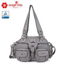 Angelkiss модная женская сумка через плечо, Женская Повседневная Сумка-тоут, сумка высокого качества из искусственной кожи, женская сумка Хобо, летняя сумка
