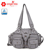 cfc1f4441b Angelkiss Fashion Women shoulder Crossbody bag female casual totes bag high  quality PU leather purse ladies hobo messenger bag