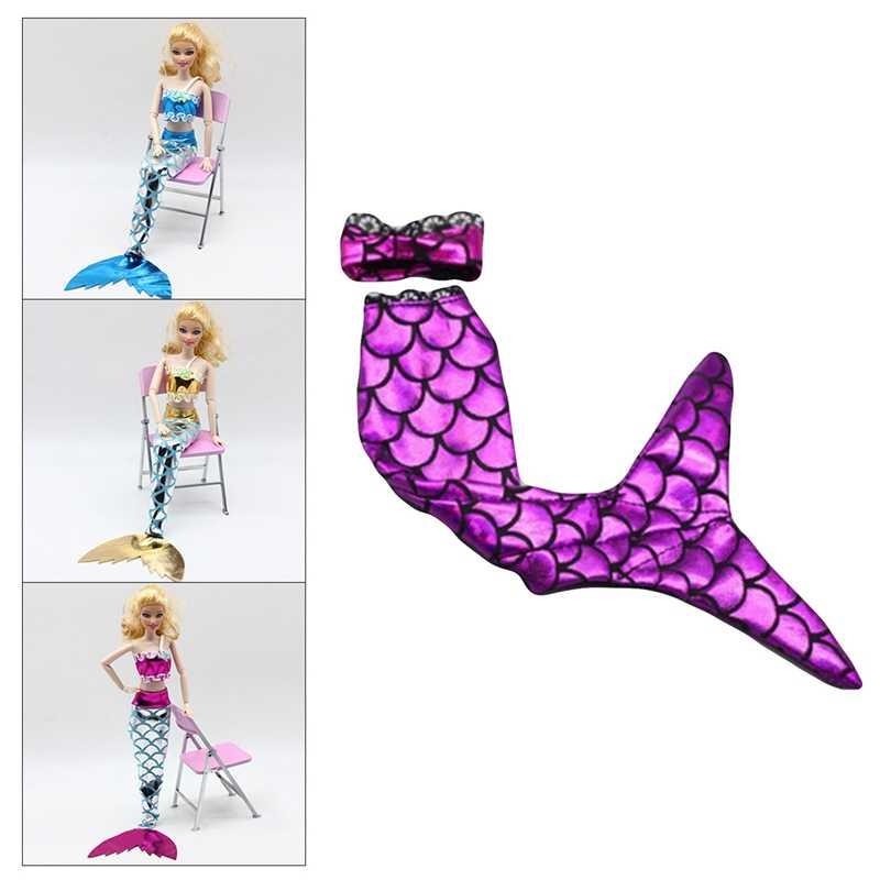 Прекрасный хвост русалки купальник платье костюм интимные аксессуары комплект для 11 дюйм(ов) кукла праздничная одежда детск