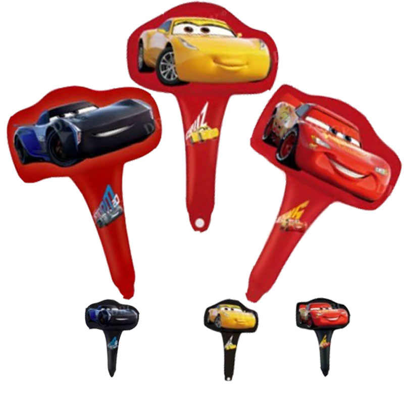 10 шт. мини гоночный автомобиль ручной светильник фольги Воздушные шары 3D милый автомобиль желтый красный черный товары для вечеринки, дня рожденья вечерние украшения детские игрушки