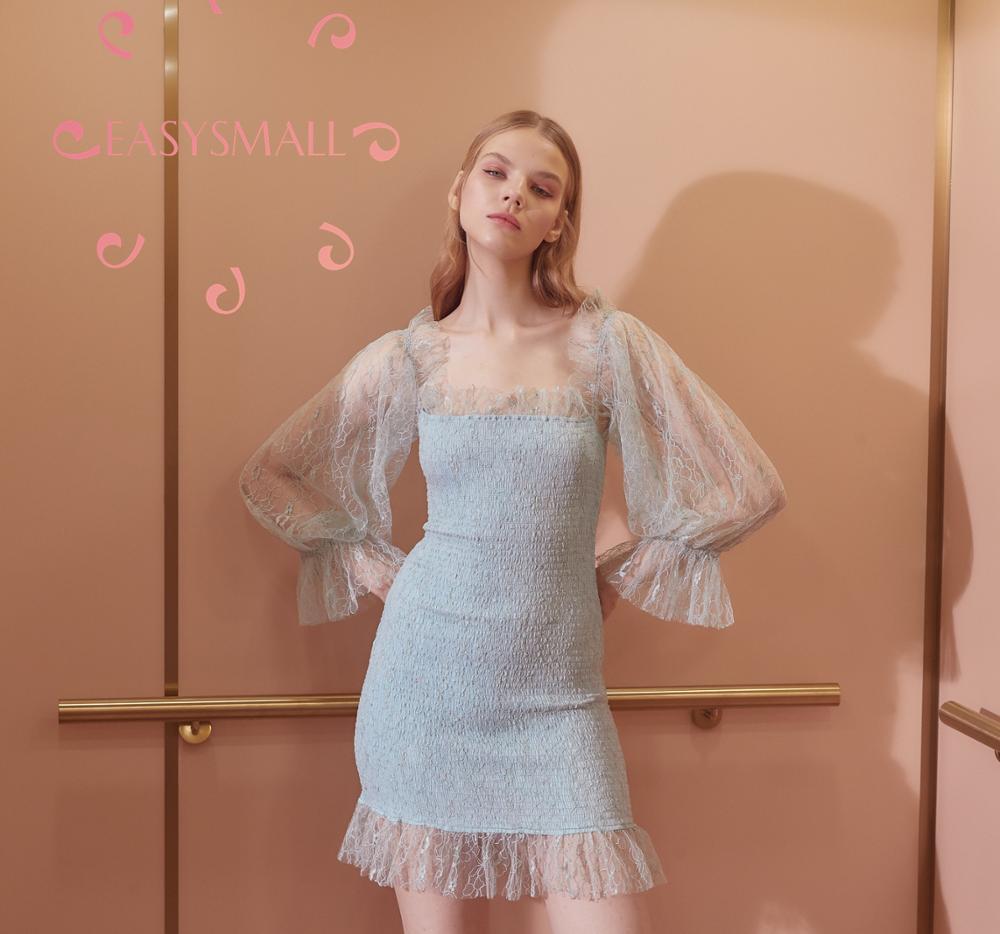 Easysmall para o amor limão vestido feminino moda verão sexy plus size high end cosplay festa à noite vestidos de cintura alta - 2