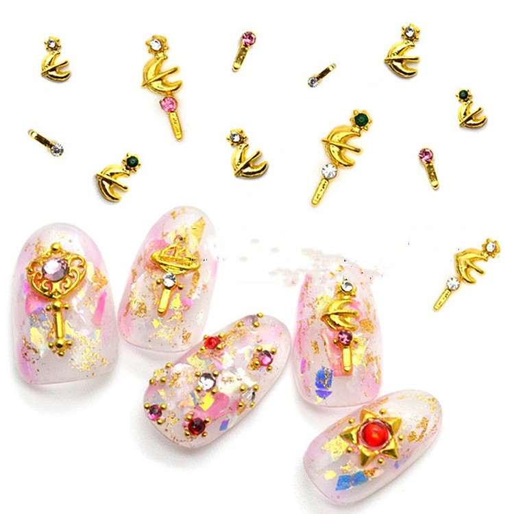 100pcs Sailor Moon Cosplay Nail Art Collection Gift Women Girl Drop ship
