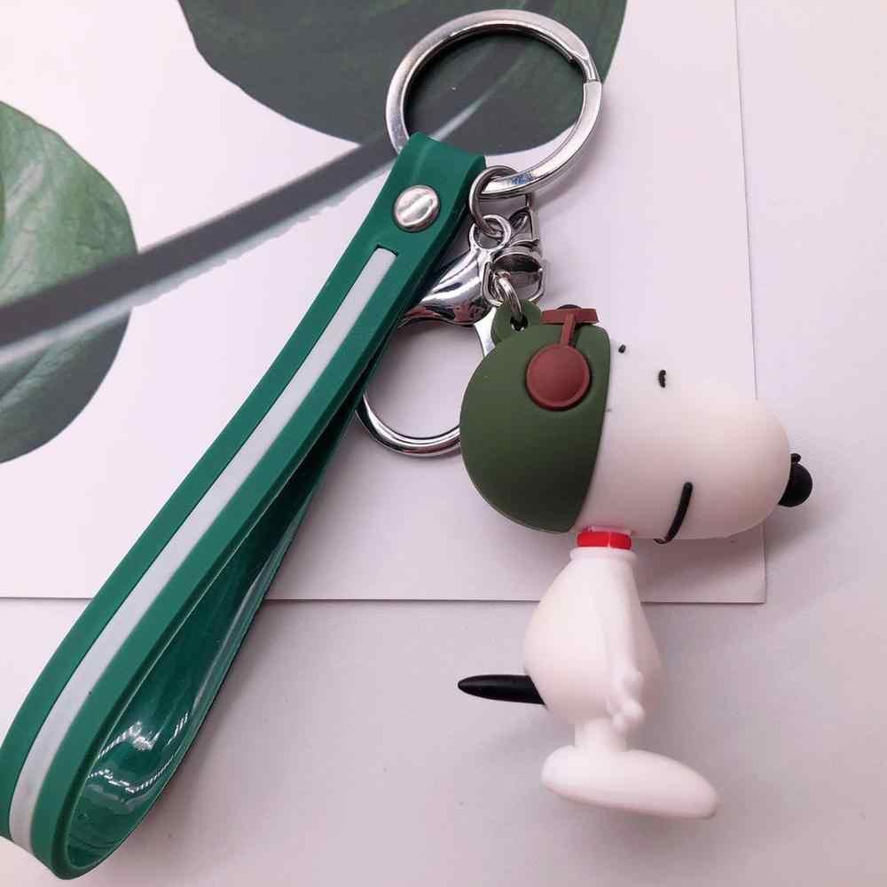 คุณภาพสูง 2019 ใหม่ Bulldog พวงกุญแจ Pu หนังสัตว์สุนัขพวงกุญแจกระเป๋า Charm Trinket Chaveiros Bulldog กระเป๋า Accessor