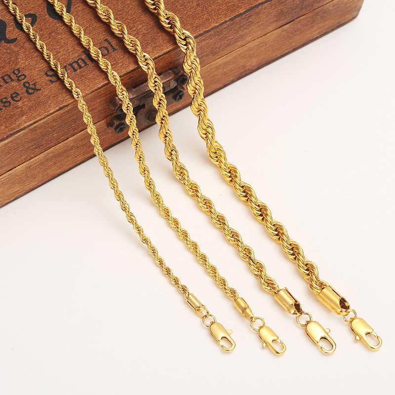 ใหม่ Twisted รอบสร้อยคอสร้อยคอสร้อยข้อมือทองขายส่งผู้หญิง Mensbangle สร้อยข้อมือแอฟริกันบราซิลเอธิโอเปียเครื่องประดับของขวัญเด็ก