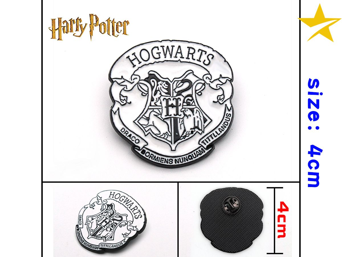 Giancomics Harri Potter Hot Movie Alloy Badge Pin PVC Button Badges Pins Brooch Chestpin Costume Backpack Ornament Decor