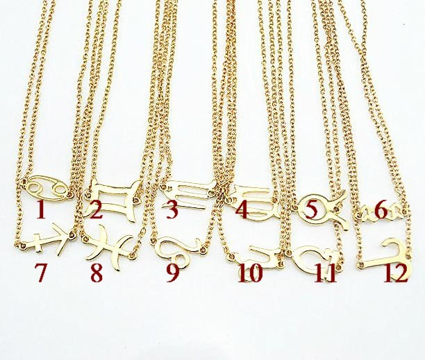 Fashion Metal Chinese Zodiac Symbol Short Design Necklace In Pendant