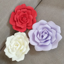 25 Cm Artificial Foam Roses Large Flowers Wall for Weddings Custom Flower Diy Window Background Layout