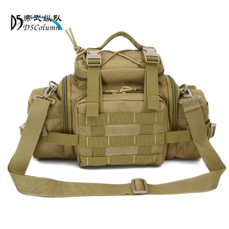Military enthusiasts nylon waist bag chest bag 3 p magic camera pocket oblique satchel m ...