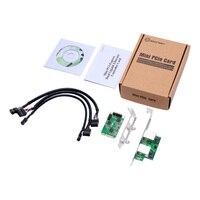 Mini PCI e 2 Port Gigabit Ethernet Card Network Adapter 10/100/1000Mb For Server