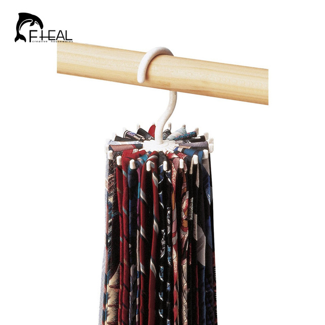 Fheal Storage Holders Rotating Tie And Belt Hanger Rack Adjule Holds 20 Neck Ties