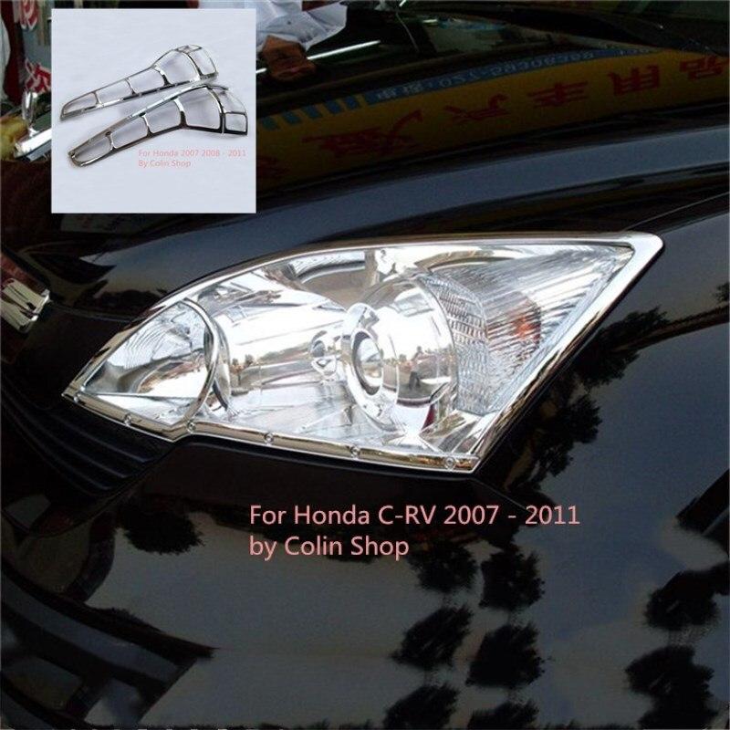 4 pcs/lot voiture extérieur avant et arrière cadre de lumière couvre super accessoires pour Honda Crv cr-v 2007 2008 2009 2010 2011
