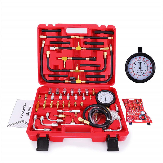Oto Motor Yakıt Sistemi Yağ Basıncı Test Ölçer Araç Teşhis Analiz Tamir Aracı Kiti 0 140 PSI
