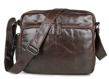 Messenger Bag Men's Shoulder Bag Genuine Leather Brown Travel  Casual Flap Male Man Phone Money  Men's Crossbody Bags for Men