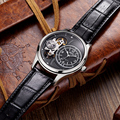 Classic Fashion Dial Design Watches Men Luxury Top Brand JEDIR Automatic mechanical Watch Male Skeleton Watch Leather Strap New