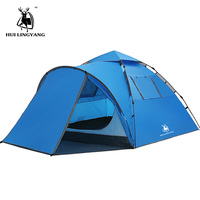 Tourist tent large space double 3 4 people tent hydraulic automatic waterproof 4 season outdoor family beach leisure tent
