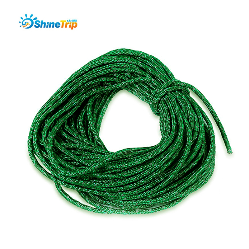 50FT 2.5MM Camping Tent Reflective Rope Windproof String Cord Clothesline