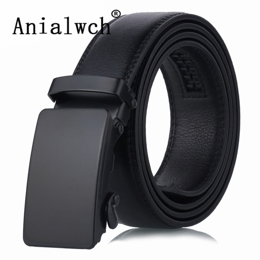 110x3.5cm New men's Luxury Brand Automatic Buckle Trouser   Belt   For Men Jeans Black Face Slider Wide   Belt   women's Waist   Belt   U111