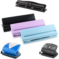 Perforator Metal 2/4/6 Hole Punch Pink Craft Puncher Paper Cutter Adjustable DIY A4 A5 A6 Loose Leaf Punch Scrapbooking Statione