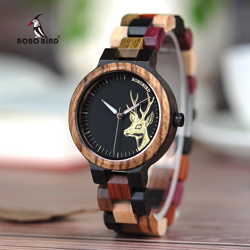 BOBO BIRD Luxury Lovers' Wooden Watches Men Women Handmade Quartz Wristwatches Ideal Gifts Item Relogio Masculino