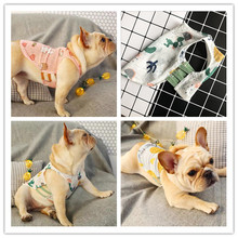 Summer Cat Dog Clothes Small Pet Waistcoat Parent- Child Family Matching Outfit French Bulldog Vest Let Enjoy Cool Life