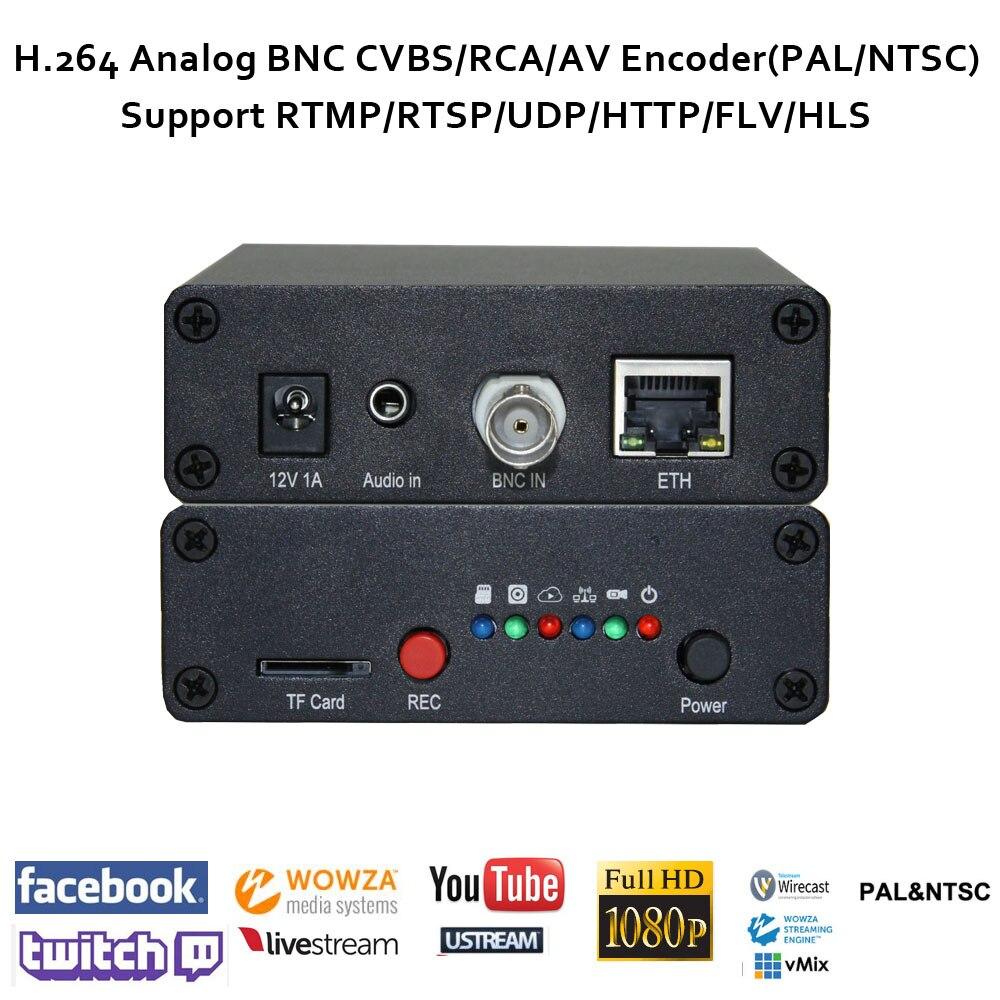 H.264 Analog/CVBS/RCA(BNC type) IPTV Video Encoder live streaming support RTMP/RTSP/UDP