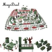 MagiDeal 500Pcs/Lot Plastic Soldier 4cm Army Action Figures Playset for Army Sand Scene Model Layout Boy Youth Toy Great Gift