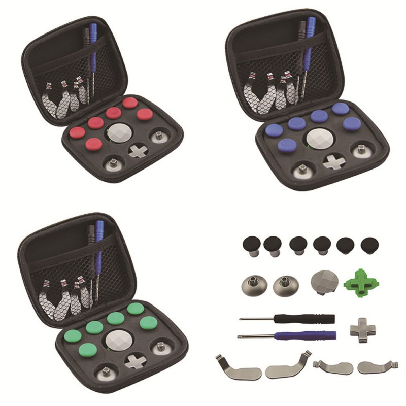 18pcs Elite Handle Accessories Modification For Xbox One Elite Gamepad Full Set Joystick Caps Wired Game Controller For XBOX One image