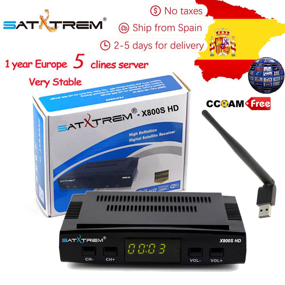 PK V7 V7S Satellite TV Receiver decoder X800S HD DVB-S/S2 + USB Wfi Rezeptor mit 5 linien Europa cline konto unterstützung powervu