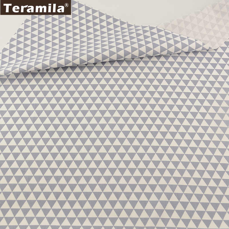 100% Cotton Fabric TERAMILA Light Grey Geromary Designs Twill Fat Quarter Home Textile Material Patchwork Quilting Tecido CM