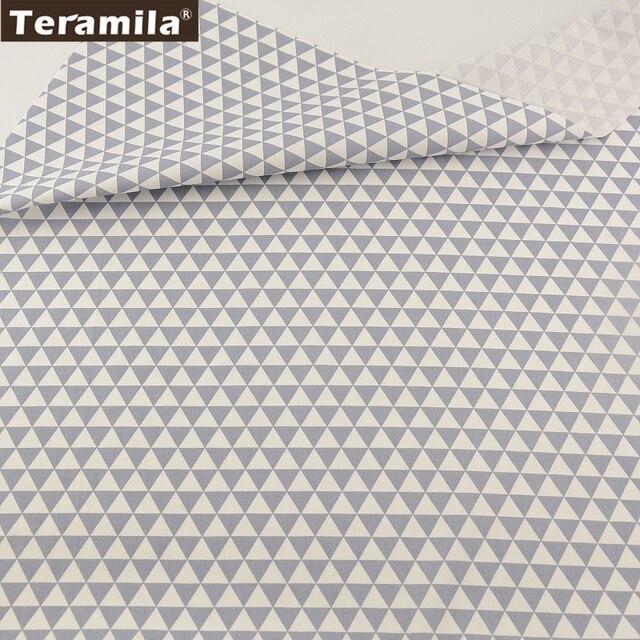 100% Coton Tissu TERAMILA Lumière Gris Geromary Conceptions Sergé Trimestre Graisse Textile de Maison Matériel Patchwork Quilting Tecido CM