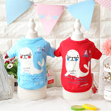 Seal Embroidery Vest Dog Clothes