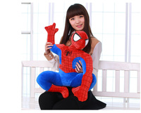1pcs 40 60cm Large Cartoon Anime Action Figures Red Spider Man Toy Squatting Posture Spiderman Plush