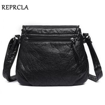 REPRCLA Brand Designer Women Messenger Bags Crossbody Soft PU Leather Shoulder Bag High Quality Fashion Women Bags Handbags 2