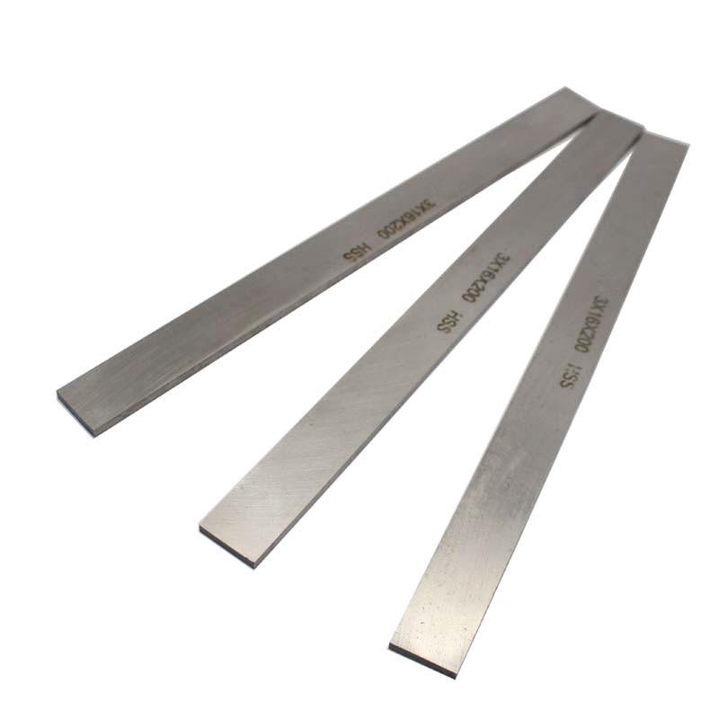 CNC Lathe HSS Rectangular Cutting Tool Bits Bar 3mm x 16mm x 200mm High Speed Steel Boring Bar Fly Cutter