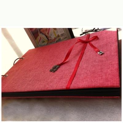 A4 Horizontal 2 Ring Cloth Wire Binding Sticky Type Handbook Album DIY Cutbook To Be Married Zodiac Wedding Books Albums