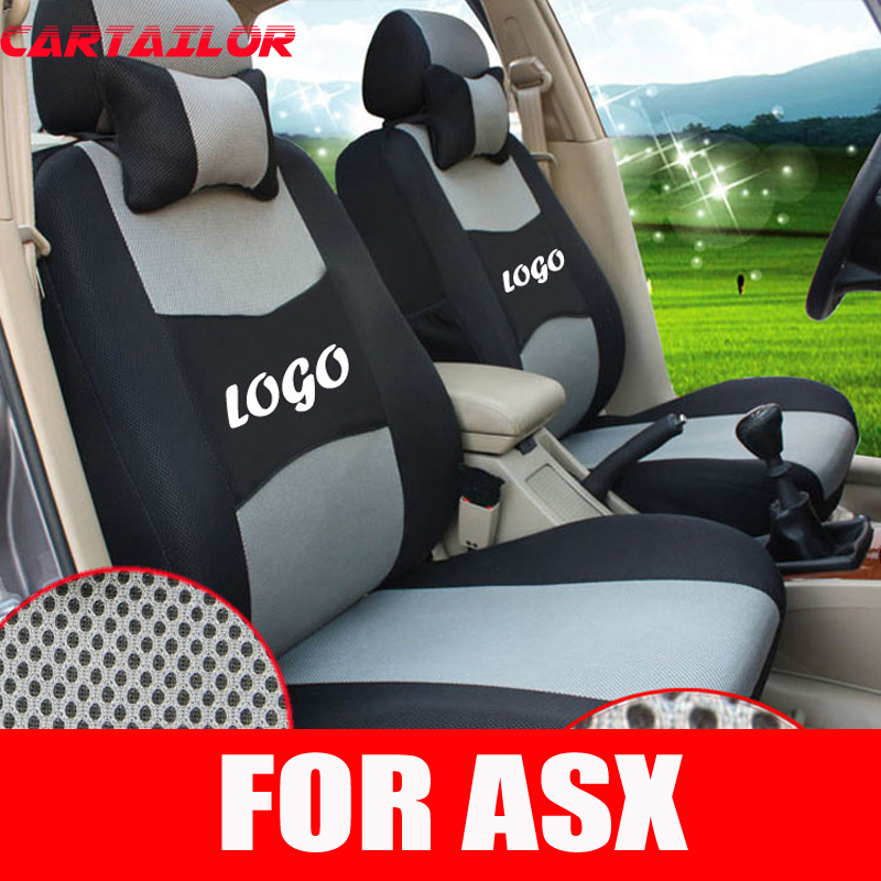 CARTAILOR Seat covers for mitsubishi asx cover seats car accessories mesh car seat cover set decorative car styling seat cushion
