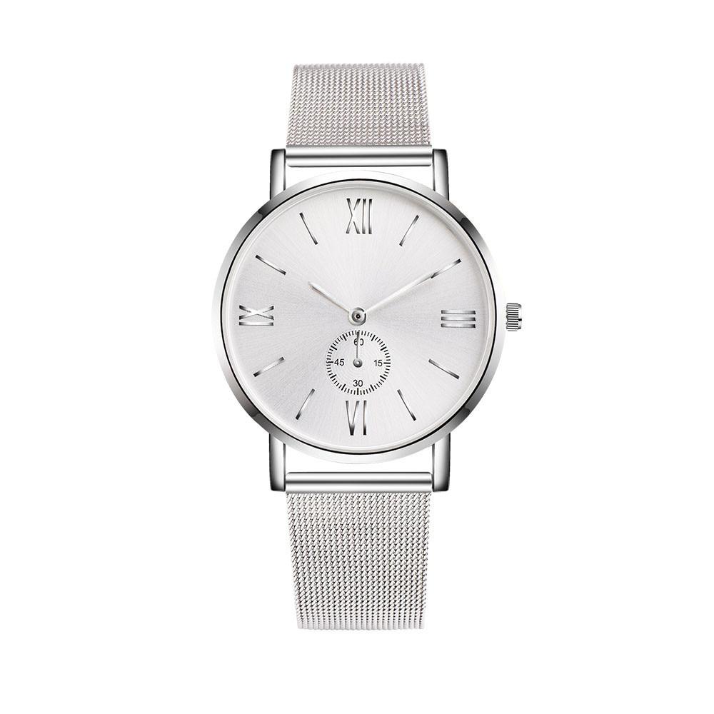 Hot! Fashion Women Men Luxury Stainless Steel Watches Crystal Analog Quartz Bracelet Wrist Simple Watch 2017 Y797*