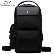 CAK Brand Men Backpacks Multi-function Man's Sling Crossbody Backpack Chest Bag USB Charging High-grade Waterproof Nylon