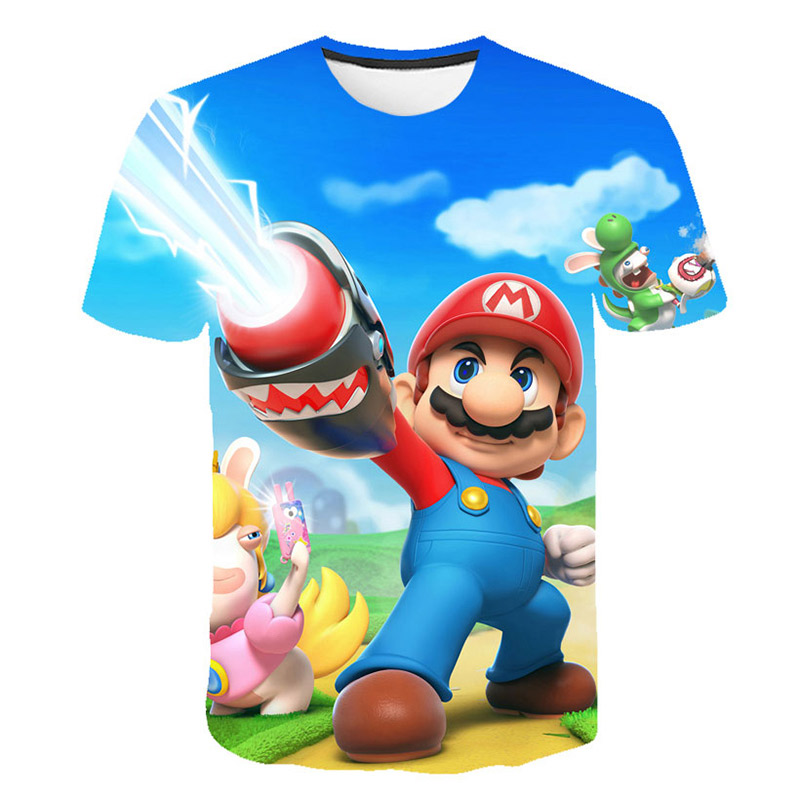 2019 Men And Women Summer Children's Clothing New Harajuku Style Classic Game Super Mario T-shirt Mario Bros 3D Printing T-shirt