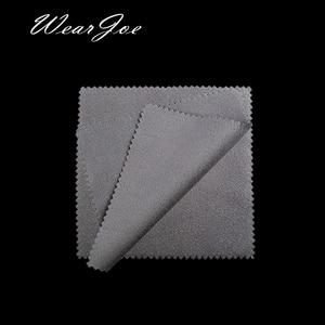 Image 4 - Paño de microfibra para limpieza de joyas, tela de microfibra antideslustre, con logotipo a medida, disponible en 12 colores, plateado y dorado, 500