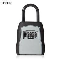 OSPON Outdoor Key Safe Box Keys Storage Box Padlock Use Four Password Lock Alloy Material Keys