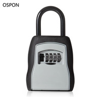 OSPON Outdoor Key Safe Box Keys Storage Box Padlock Use Four Password Lock Alloy Material Keys
