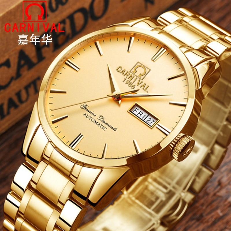 Здесь можно купить  Switzerland Carnival Top Brand Luxury Men Watches Automatic Self-Wind Watch Men Sapphire reloj hombre relogio clock C8646G-13  Часы