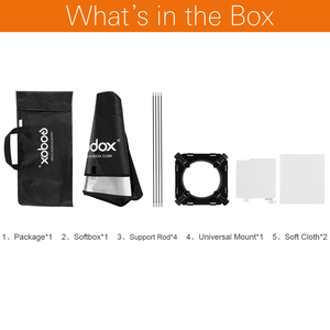 "Image 2 - Godox 50x70cm  20""x27""  Soft box Universal Mount Softbox for Universal Mount Studio Flash Strobe Free shipping"