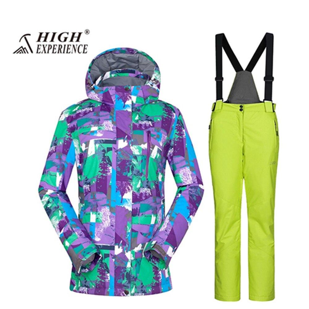 Nouveau 2018 wintersport ski de montagne costume pour femme ski costume femmes femme chaud snowboard vestes neige pantalon veste ski femme - 5