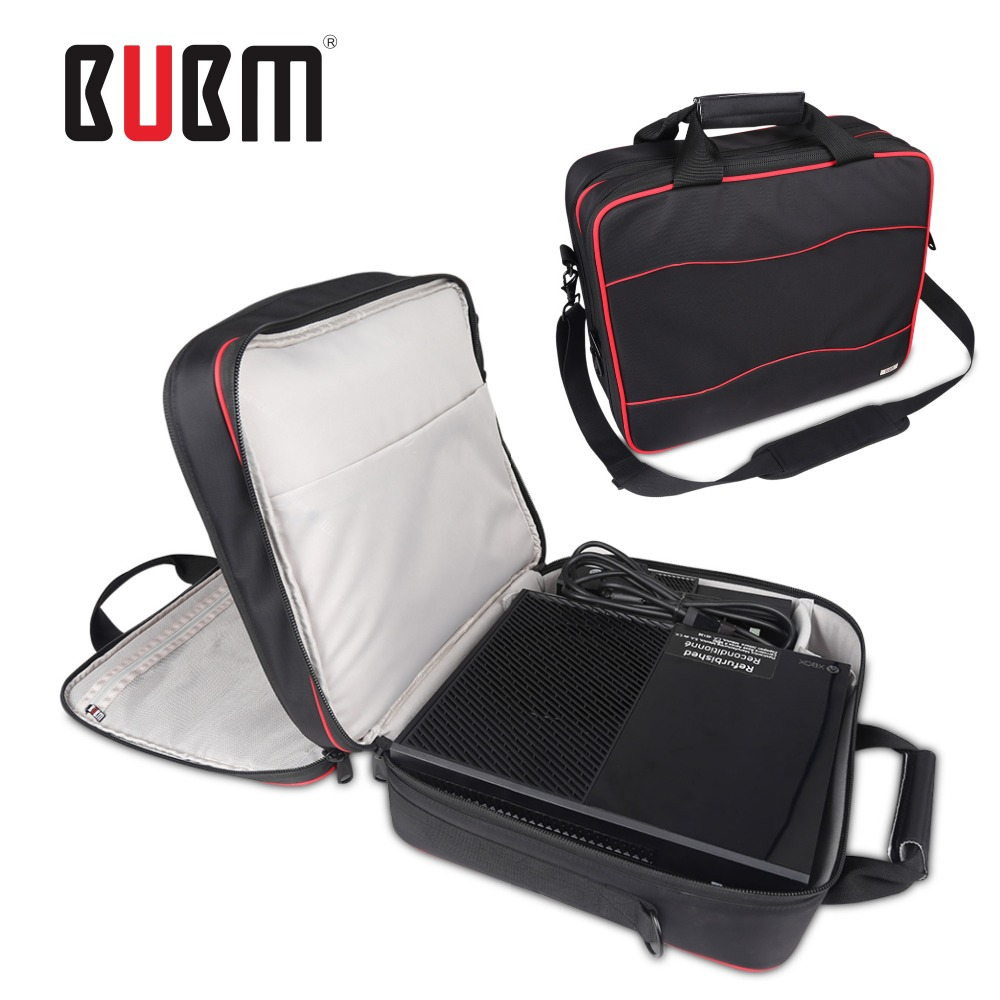 BUBM xbox one game console playstation carrying case receiving bag storage organizer XBOX 360 game bag game controller case bag eva protective hard case shell travel carrying game console storage bag holder pouch for nintend switch console with hand strap