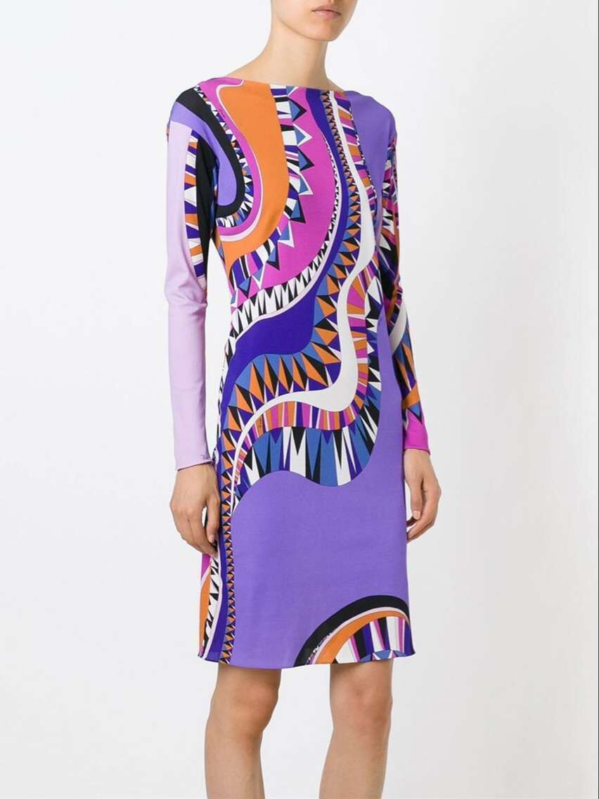 Europe s new Italian shows high quality printing elastic thin SILK JERSEY fabrics is comfortable dress