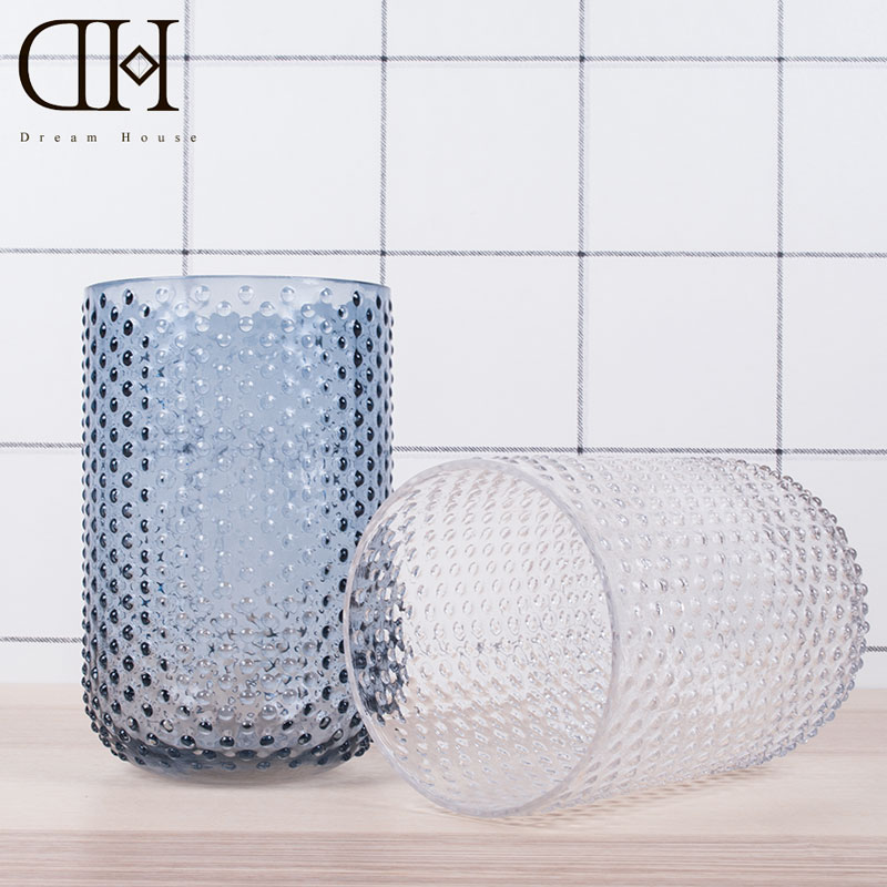 Bead style blue glass vase wedding decoration tabletop <font><b>flower</b></font> vase home decor christmas vase ornament